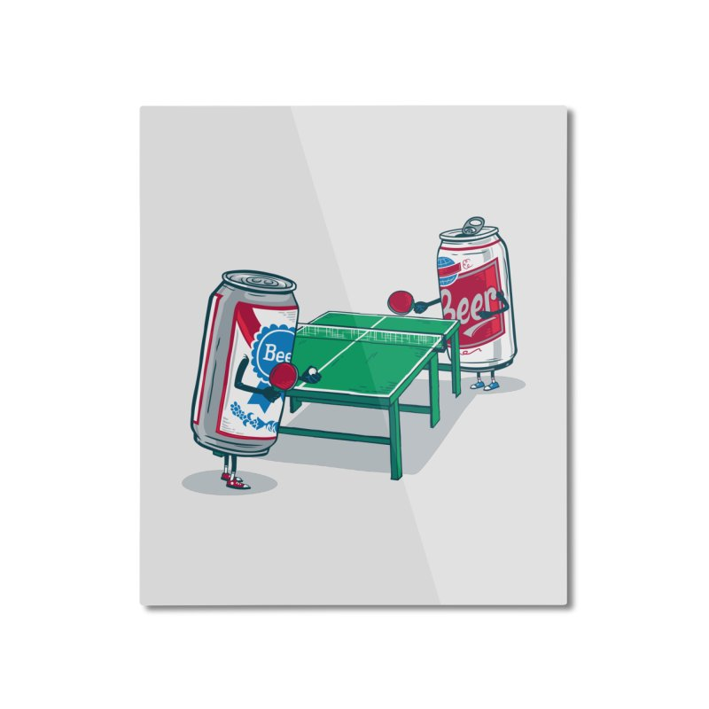 Beer Pong Home Mounted Aluminum Print by Ben Douglass