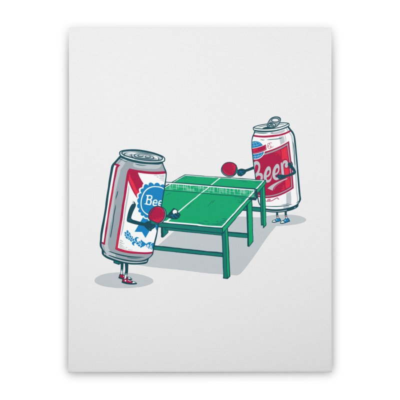 Beer Pong Home Stretched Canvas by Ben Douglass