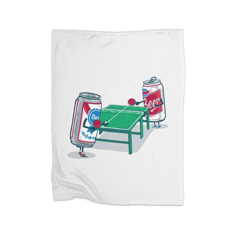 Beer Pong Home Fleece Blanket Blanket by Ben Douglass