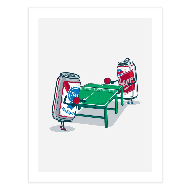 Beer Pong Home Fine Art Print by Ben Douglass