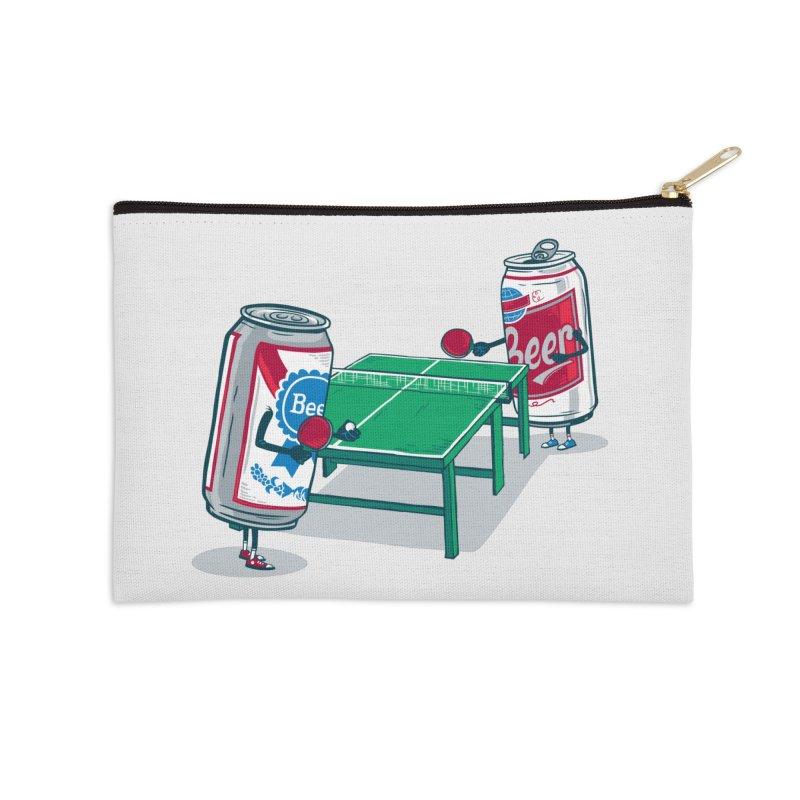 Beer Pong Accessories Zip Pouch by Ben Douglass