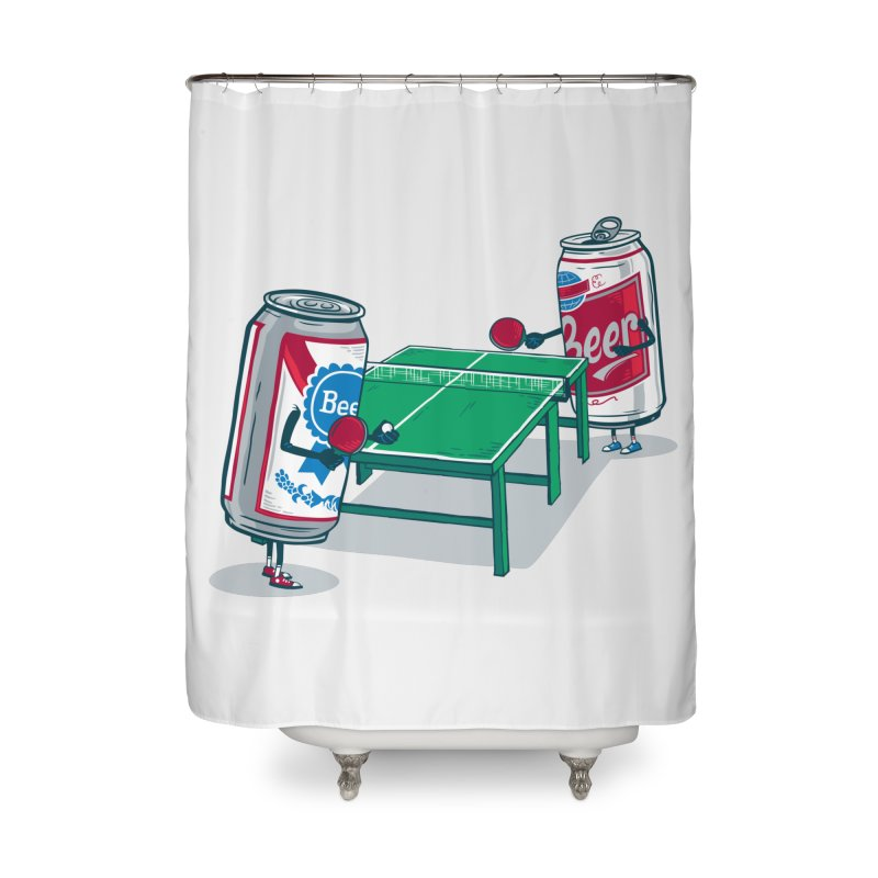 Beer Pong Home Shower Curtain by Ben Douglass