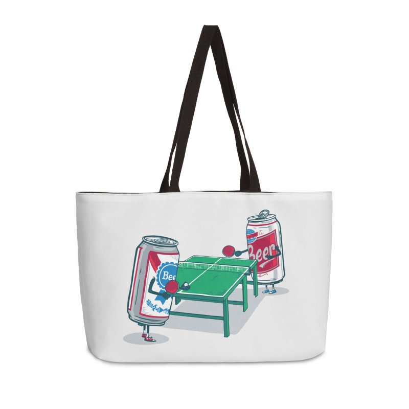 Beer Pong Accessories Weekender Bag Bag by Ben Douglass