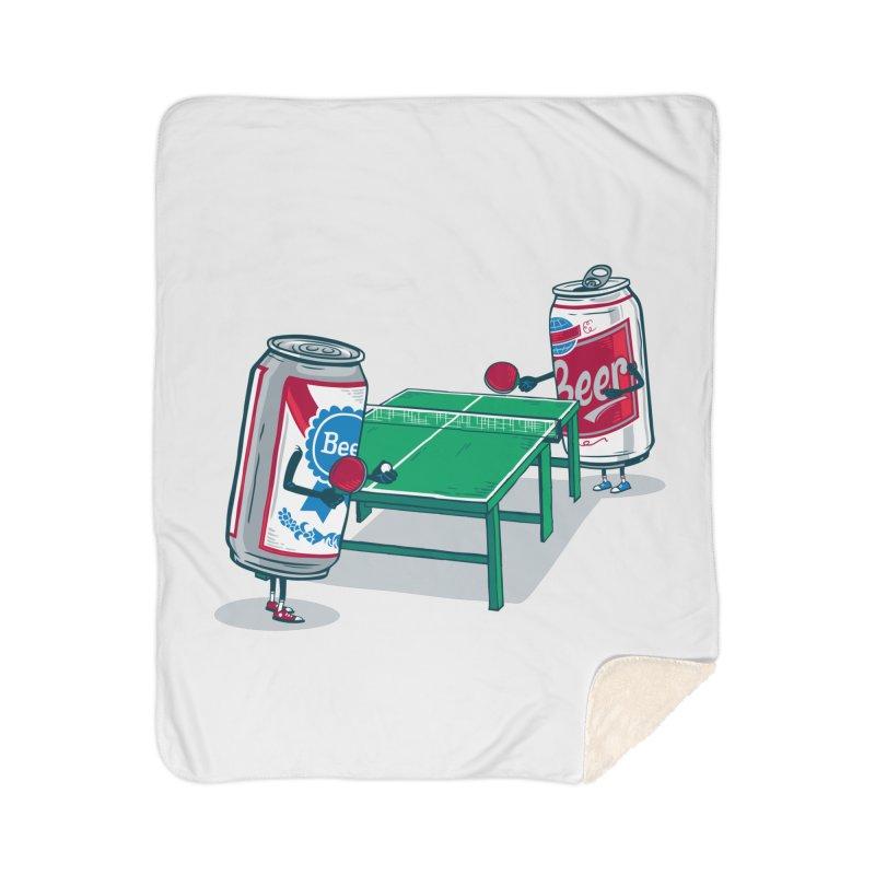 Beer Pong Home Sherpa Blanket Blanket by Ben Douglass
