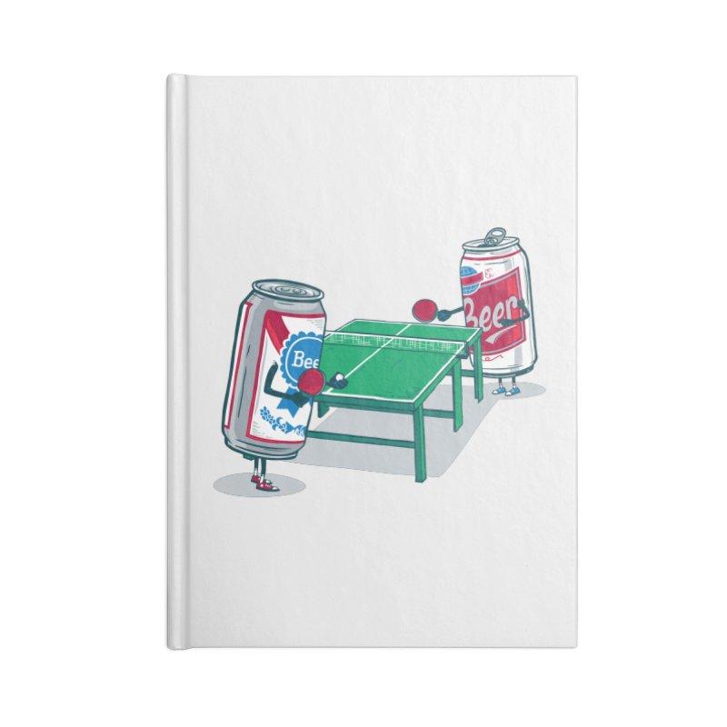 Beer Pong Accessories Lined Journal Notebook by Ben Douglass