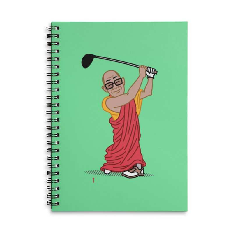 Big Hitter Accessories Lined Spiral Notebook by Ben Douglass