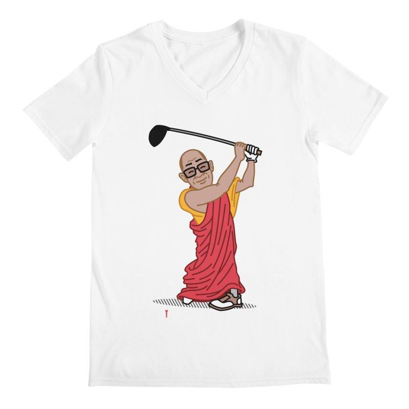 Big Hitter Men's Regular V-Neck by Ben Douglass