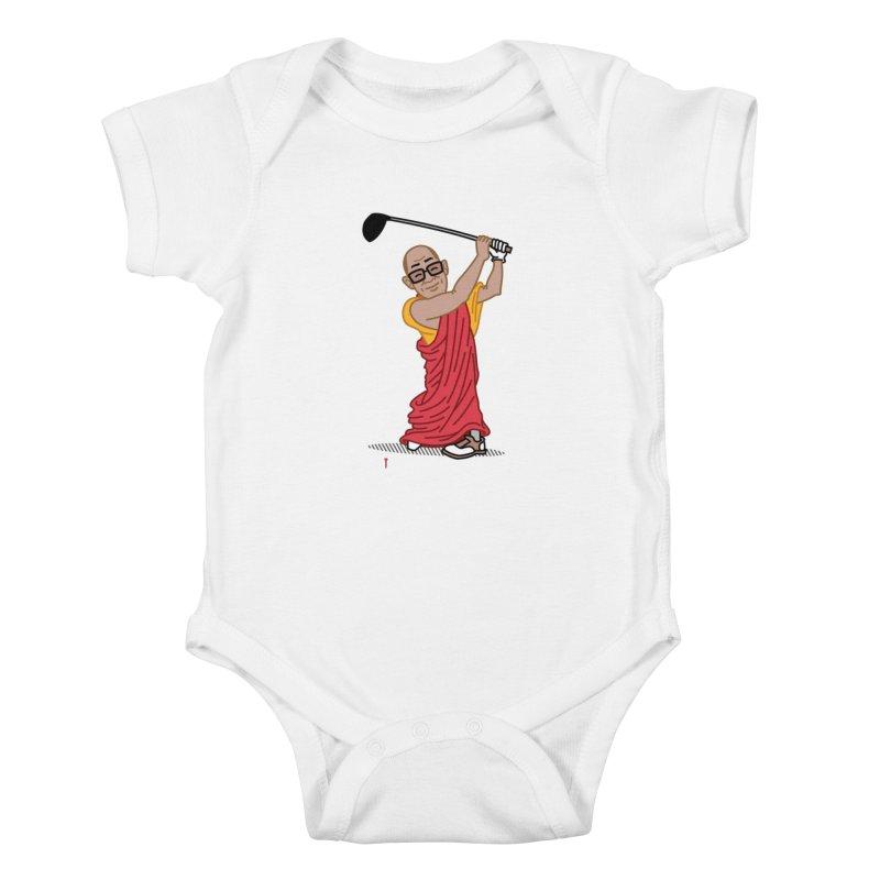 Big Hitter Kids Baby Bodysuit by Ben Douglass