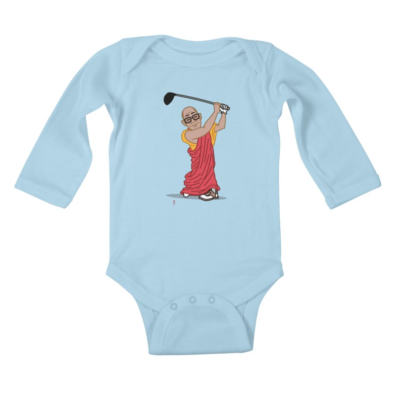 Big Hitter Kids Baby Longsleeve Bodysuit by Ben Douglass