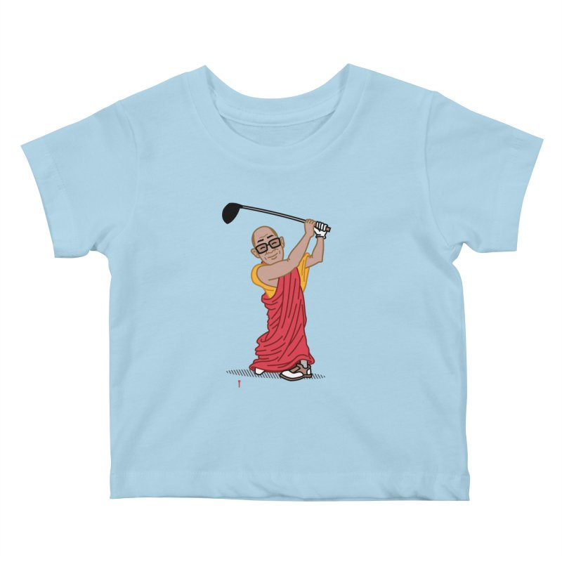 Big Hitter Kids Baby T-Shirt by Ben Douglass