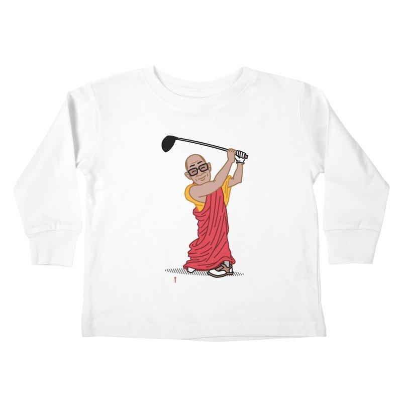 Big Hitter Kids Toddler Longsleeve T-Shirt by Ben Douglass