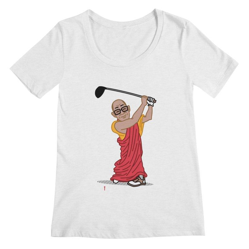 Big Hitter Women's Regular Scoop Neck by Ben Douglass