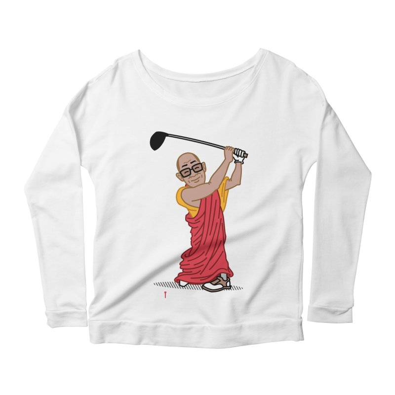 Big Hitter Women's Scoop Neck Longsleeve T-Shirt by Ben Douglass
