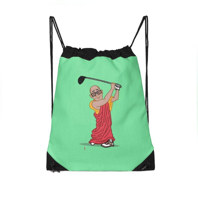 Big Hitter Accessories Drawstring Bag Bag by Ben Douglass