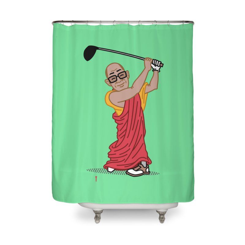 Big Hitter Home Shower Curtain by Ben Douglass