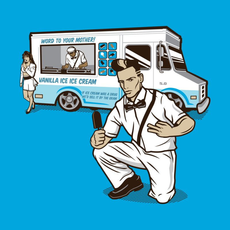Vanilla Ice Cream Man Accessories Sticker by Ben Douglass