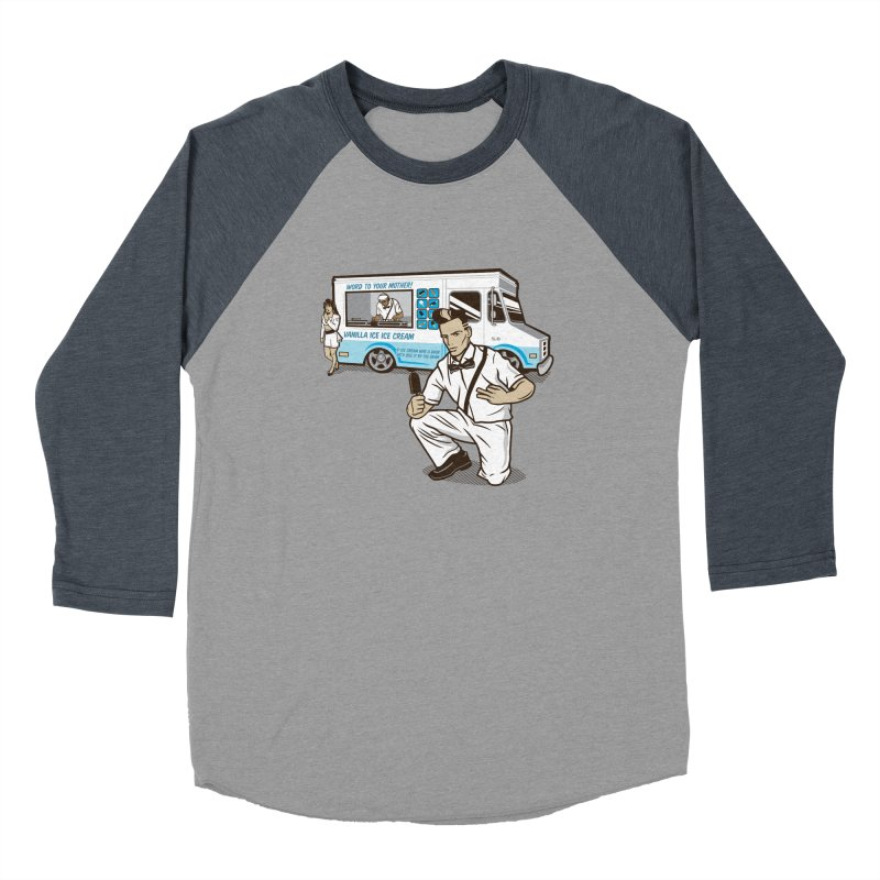 Vanilla Ice Cream Man Women's Baseball Triblend Longsleeve T-Shirt by Ben Douglass
