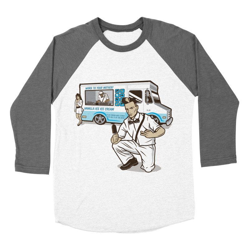 Vanilla Ice Cream Man Men's Baseball Triblend Longsleeve T-Shirt by Ben Douglass