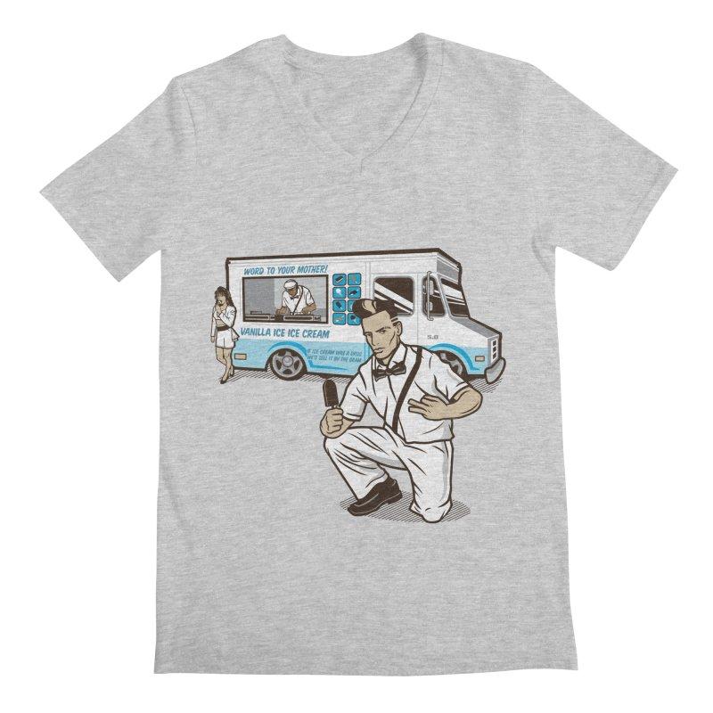 Vanilla Ice Cream Man Men's Regular V-Neck by Ben Douglass