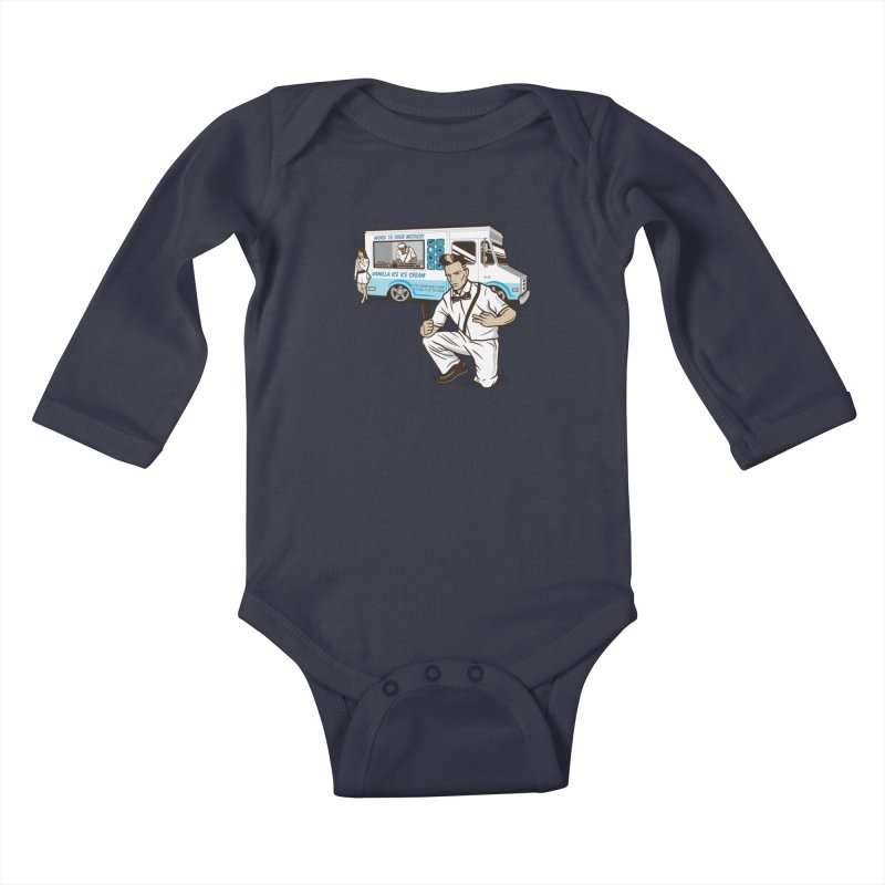 Vanilla Ice Cream Man Kids Baby Longsleeve Bodysuit by Ben Douglass