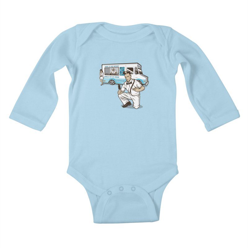 Vanilla Ice Cream Man Kids Baby Longsleeve Bodysuit by Ben Douglass