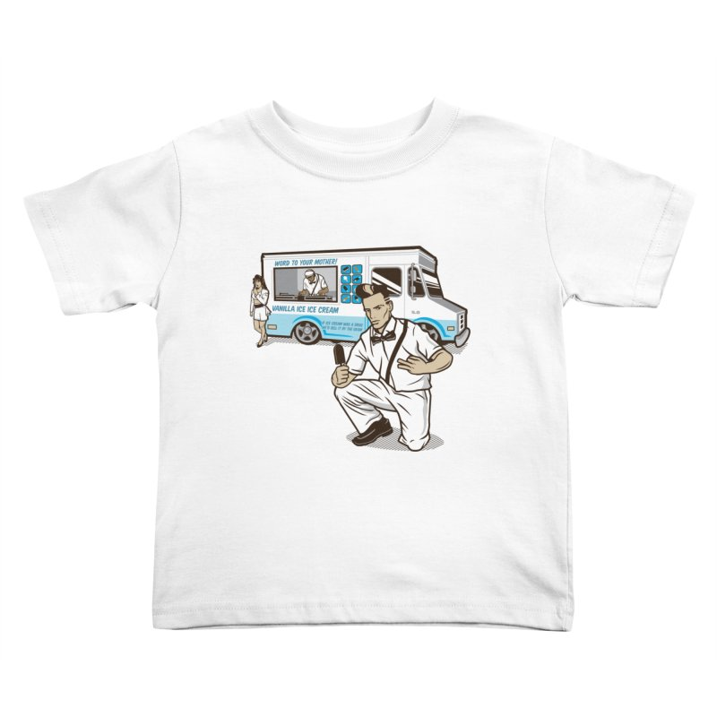 Vanilla Ice Cream Man Kids Toddler T-Shirt by Ben Douglass