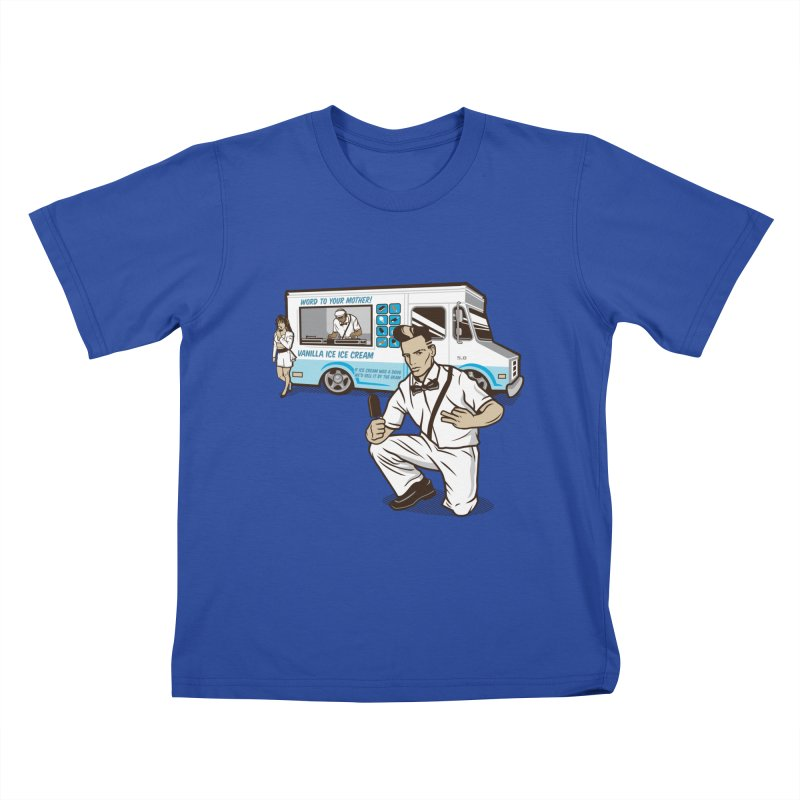 Vanilla Ice Cream Man Kids T-Shirt by Ben Douglass