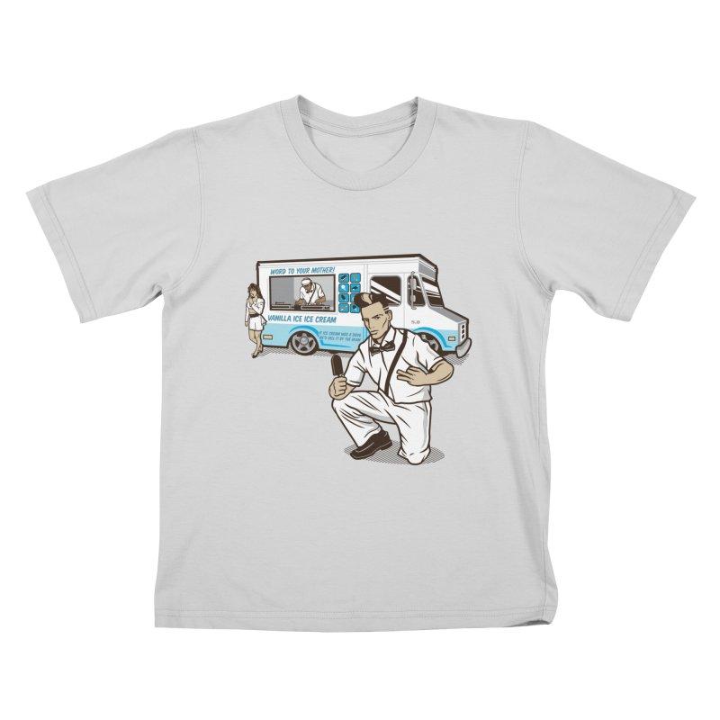 Vanilla Ice Cream Man Kids T-Shirt by Ben Douglass