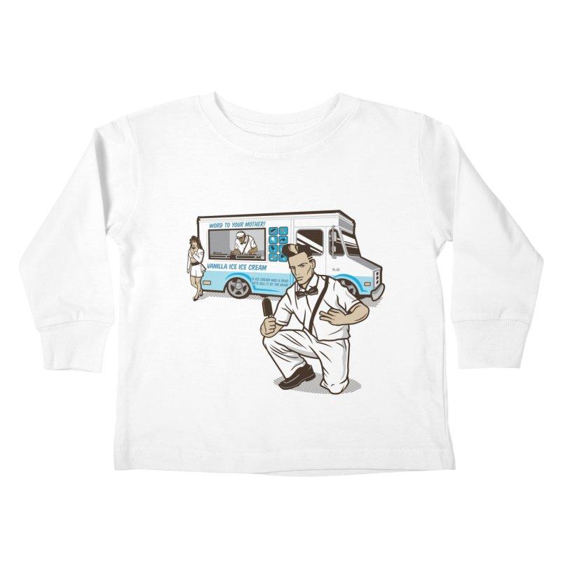 Vanilla Ice Cream Man Kids Toddler Longsleeve T-Shirt by Ben Douglass