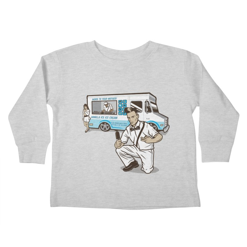 Vanilla Ice Cream Man Kids Toddler Longsleeve T-Shirt by Ben Douglass