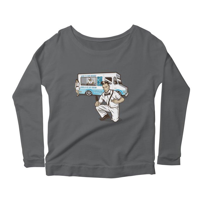 Vanilla Ice Cream Man Women's Scoop Neck Longsleeve T-Shirt by Ben Douglass