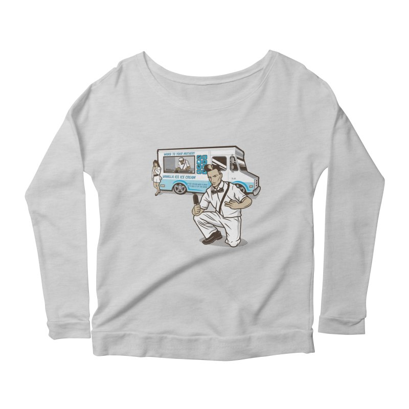 Vanilla Ice Cream Man Women's Scoop Neck Longsleeve T-Shirt by Ben Douglass