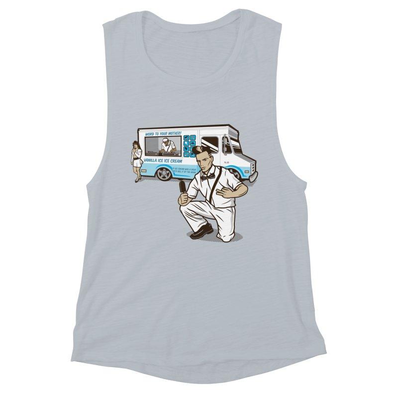 Vanilla Ice Cream Man Women's Muscle Tank by Ben Douglass