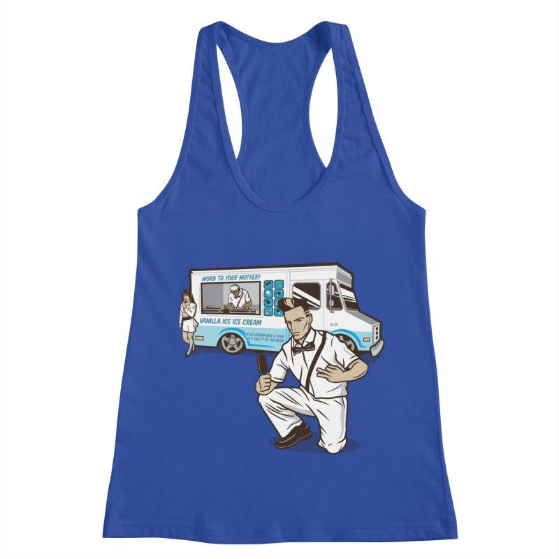 Vanilla Ice Cream Man Women's Racerback Tank by Ben Douglass