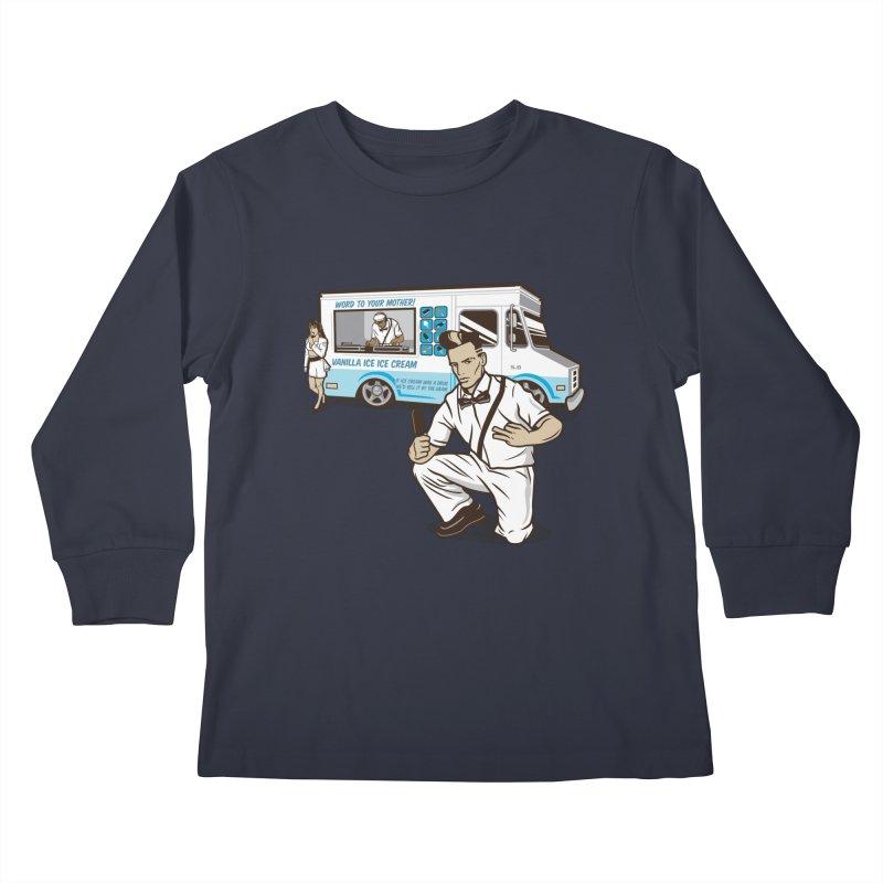 Vanilla Ice Cream Man Kids Longsleeve T-Shirt by Ben Douglass