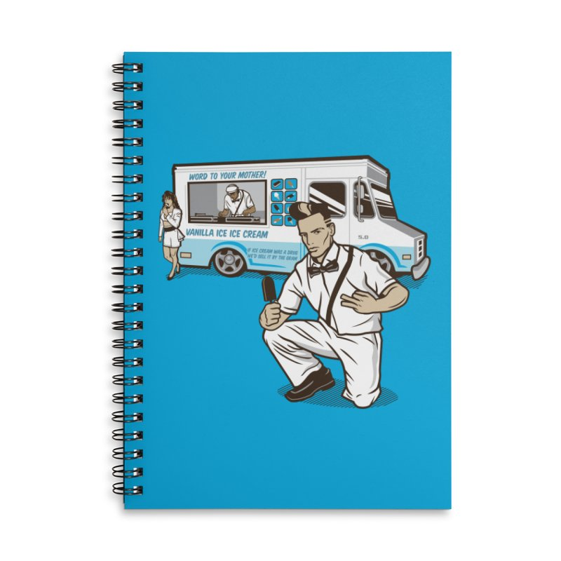 Vanilla Ice Cream Man Accessories Lined Spiral Notebook by Ben Douglass