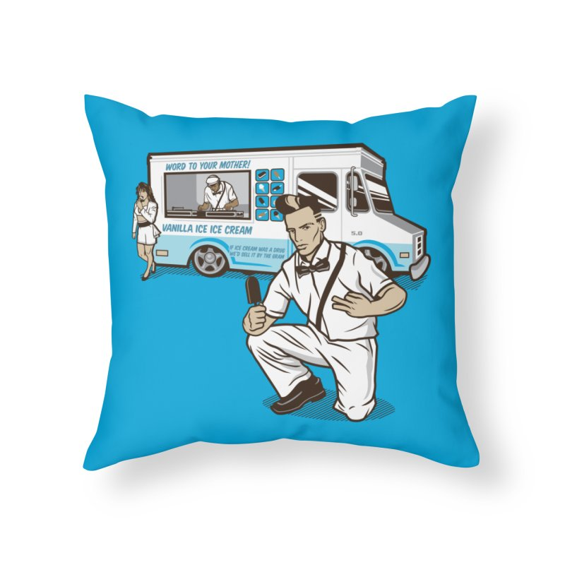 Vanilla Ice Cream Man Home Throw Pillow by Ben Douglass