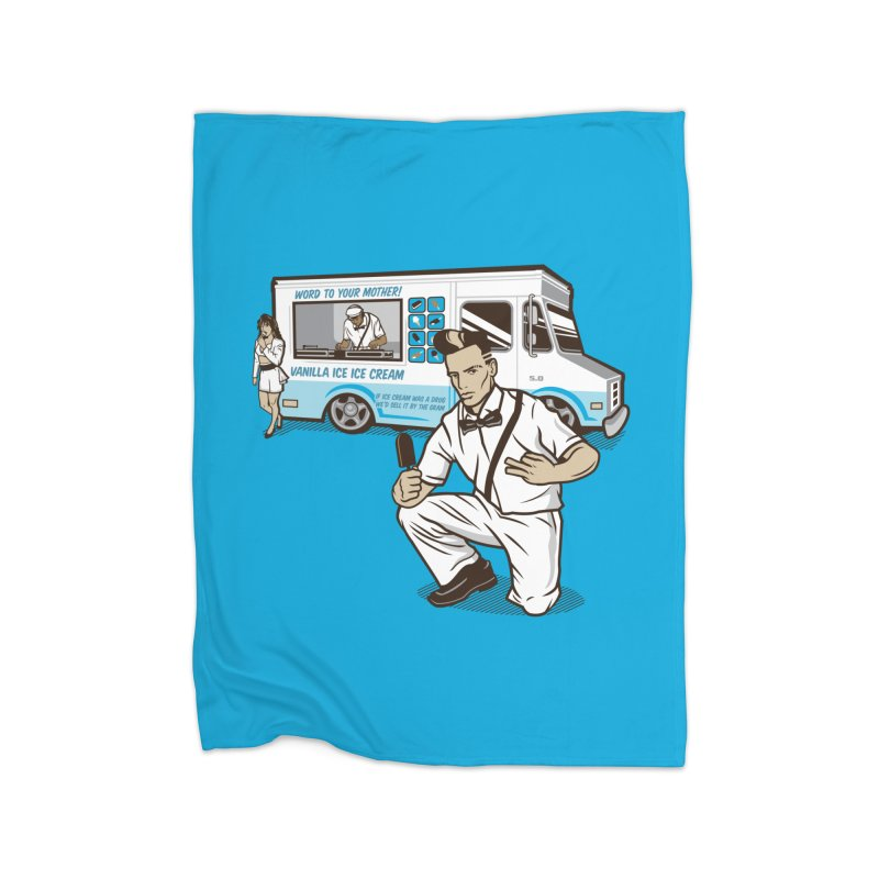 Vanilla Ice Cream Man Home Fleece Blanket Blanket by Ben Douglass