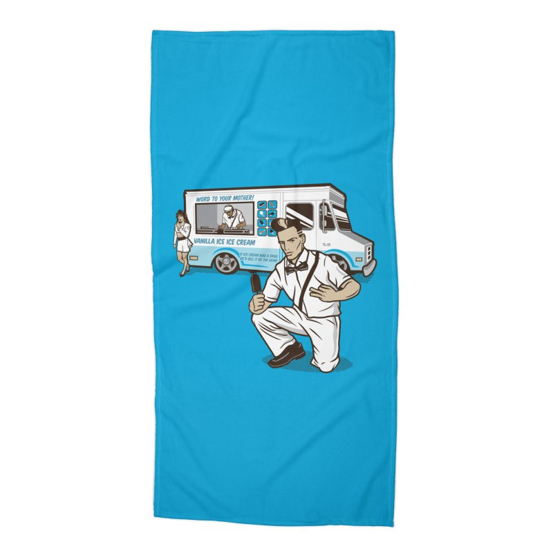 Vanilla Ice Cream Man Accessories Beach Towel by Ben Douglass