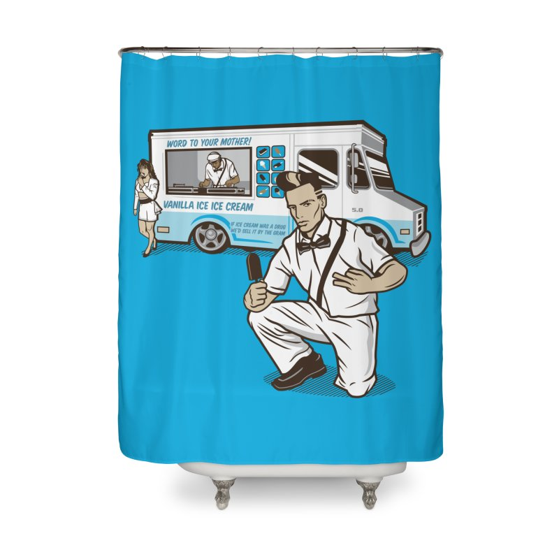 Vanilla Ice Cream Man Home Shower Curtain by Ben Douglass