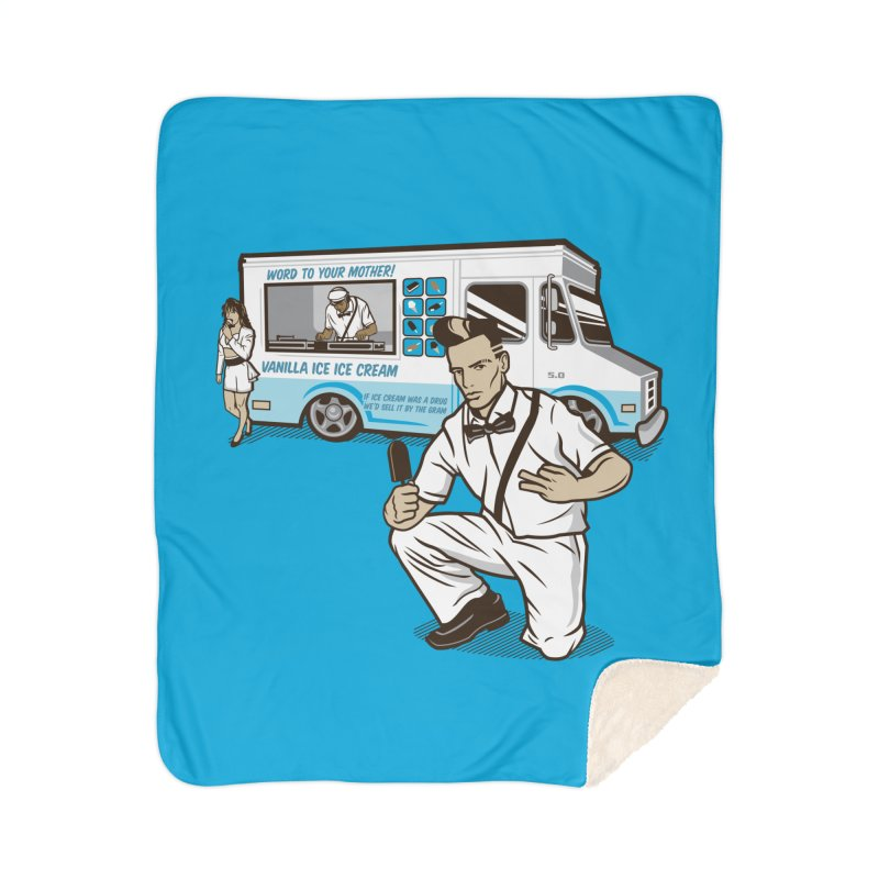 Vanilla Ice Cream Man Home Sherpa Blanket Blanket by Ben Douglass