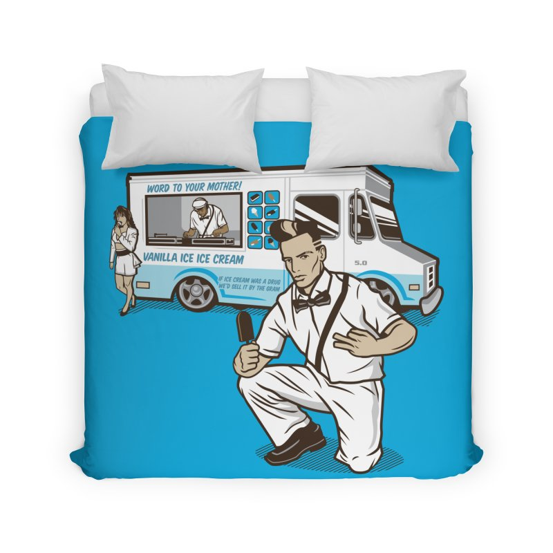 Vanilla Ice Cream Man Home Duvet by Ben Douglass