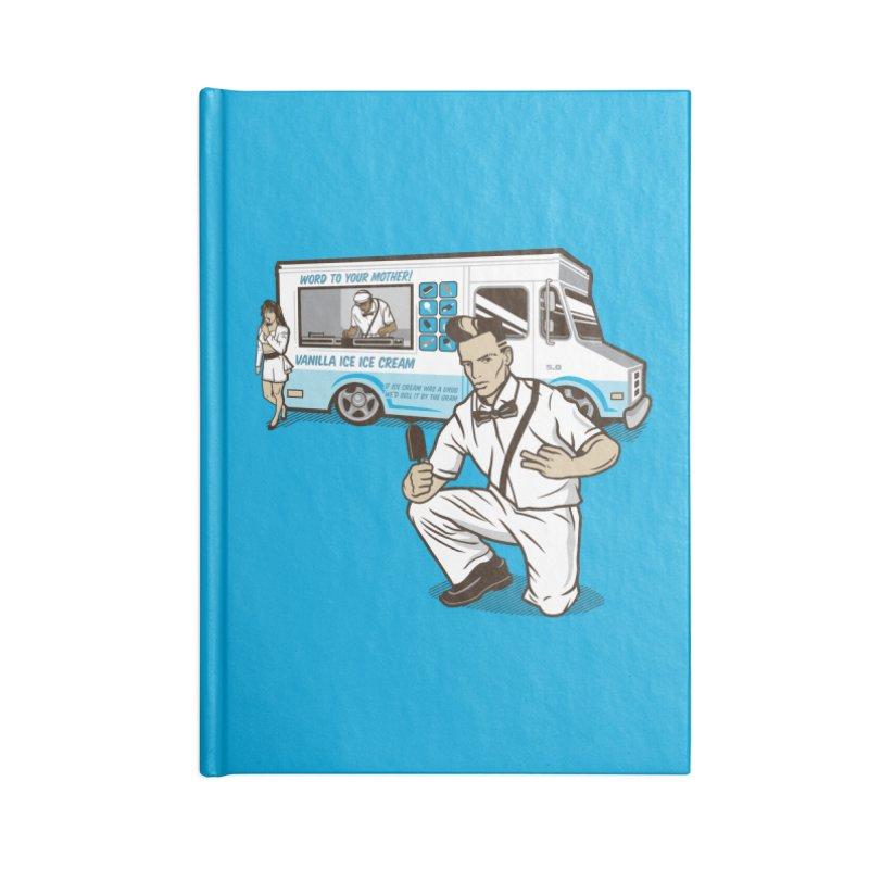 Vanilla Ice Cream Man Accessories Lined Journal Notebook by Ben Douglass