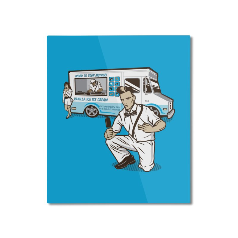 Vanilla Ice Cream Man Home Mounted Aluminum Print by Ben Douglass