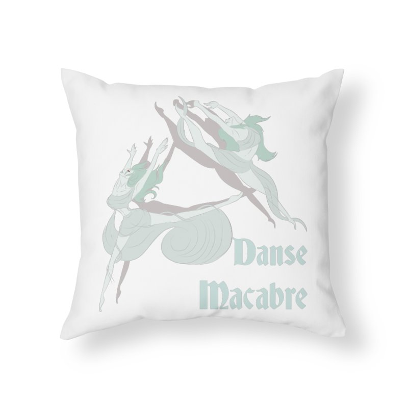 Danse Macabre Banshees Home Throw Pillow by Beneath Ribbons