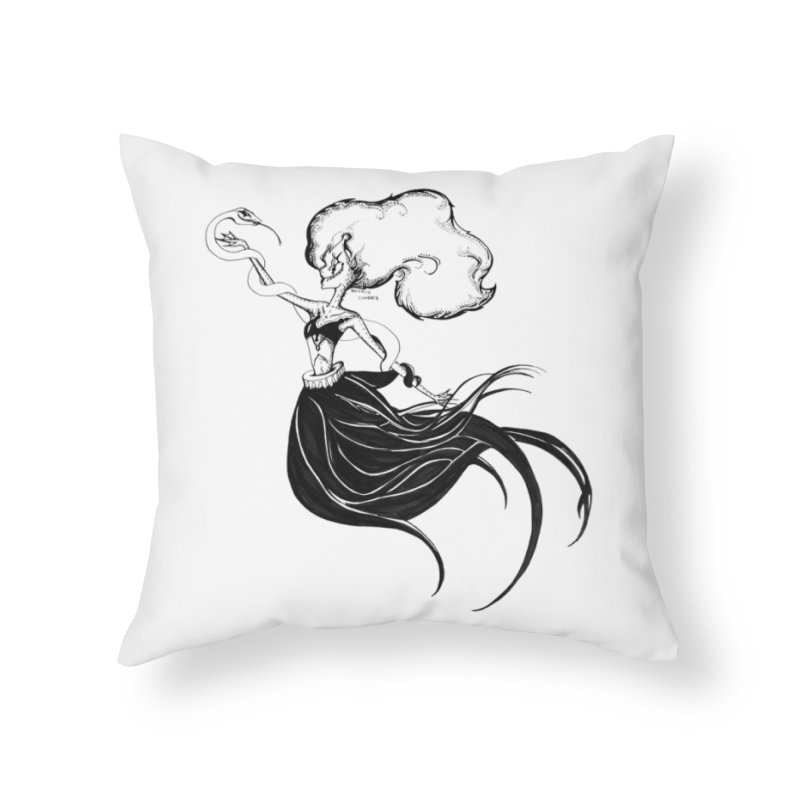 Clown Serpant  Home Throw Pillow by Beneath Ribbons