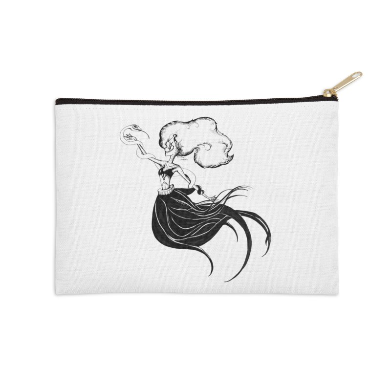 Clown Serpant  Accessories Zip Pouch by Beneath Ribbons