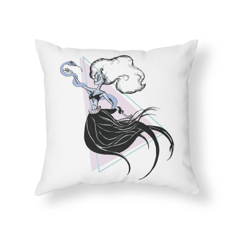 Serpentress Home Throw Pillow by Beneath Ribbons