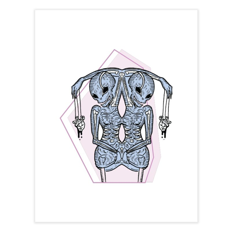 String Hearts Home Fine Art Print by Beneath Ribbons