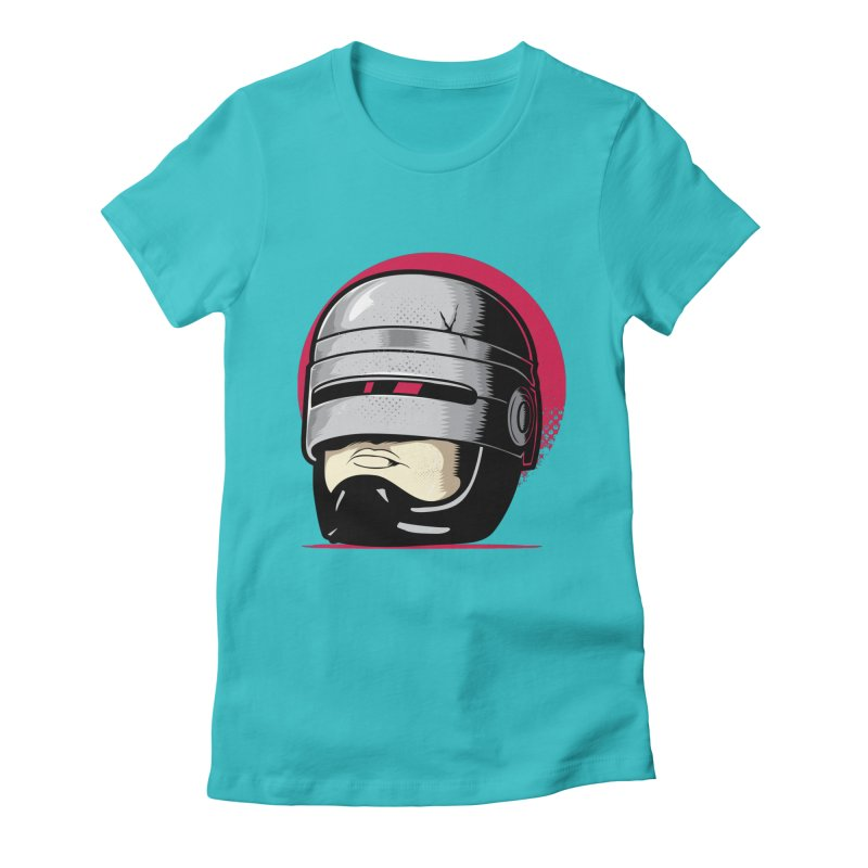 Robocop's Head Women's Fitted T-Shirt by benedictlarazo's Artist Shop